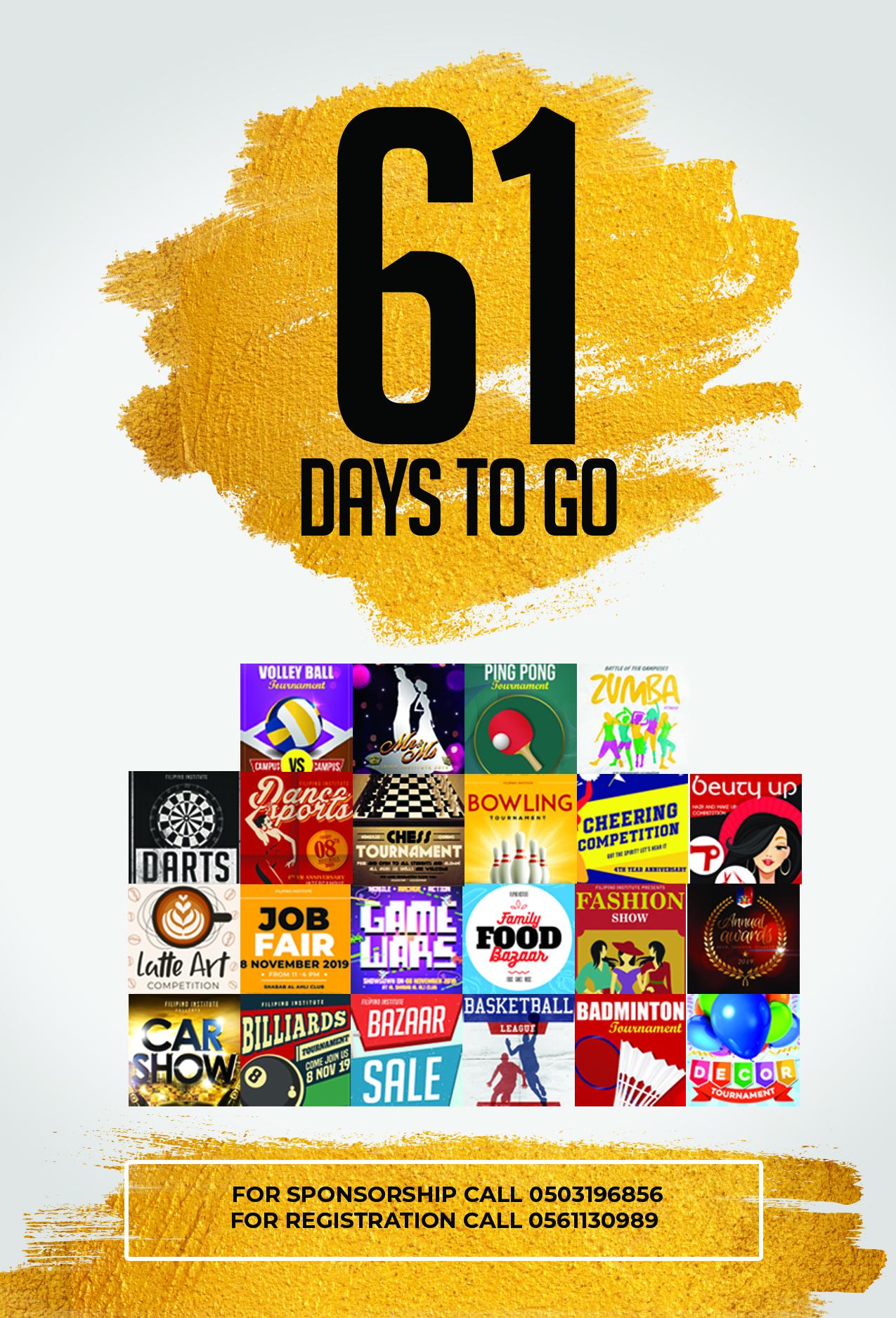 61 DAYS TO GO
